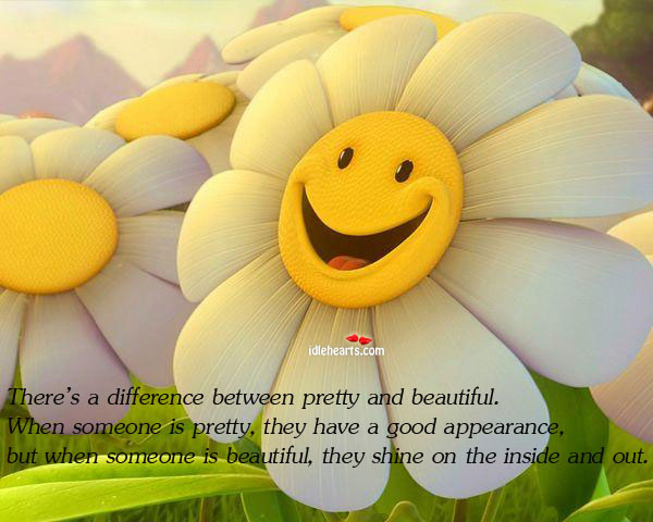 Image, Difference between pretty and beautiful