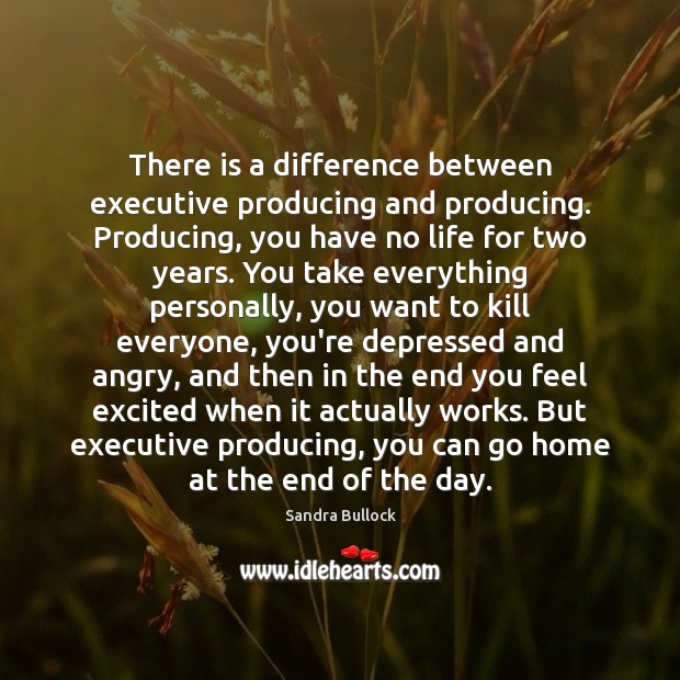 There is a difference between executive producing and producing. Producing, you have Image