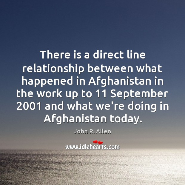 Image, There is a direct line relationship between what happened in Afghanistan in