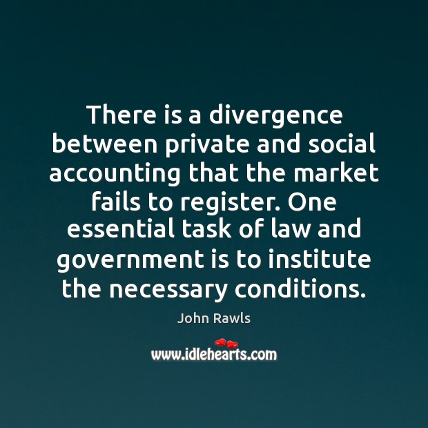 Image, There is a divergence between private and social accounting that the market