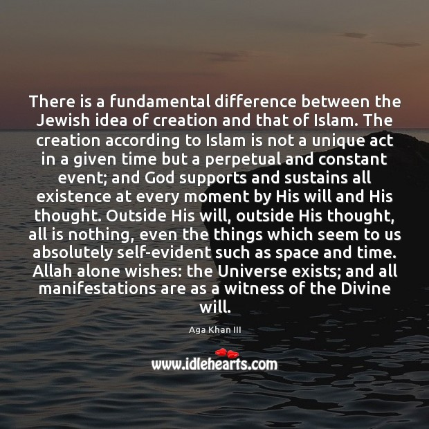 Image, There is a fundamental difference between the Jewish idea of creation and