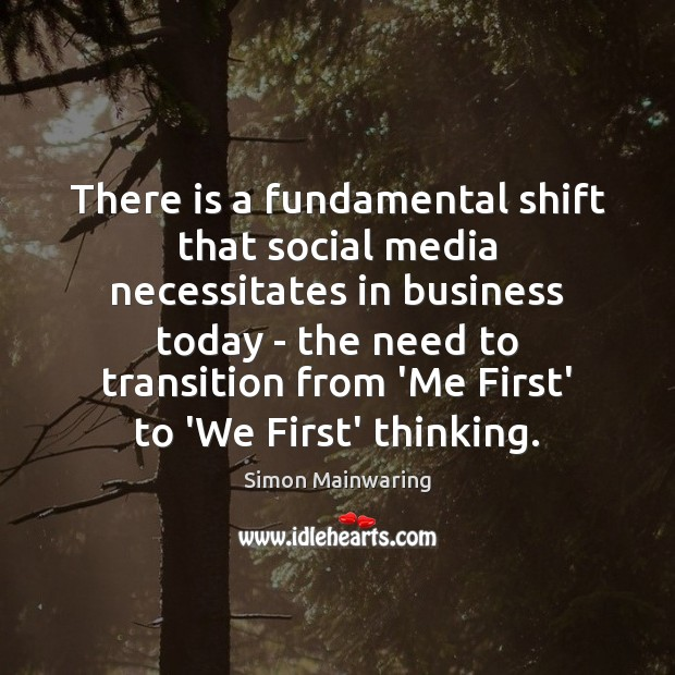 There is a fundamental shift that social media necessitates in business today Social Media Quotes Image