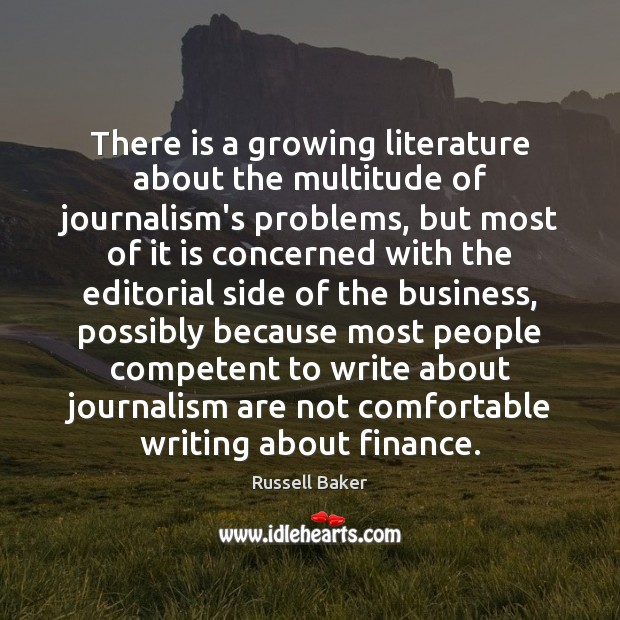 Image, There is a growing literature about the multitude of journalism's problems, but