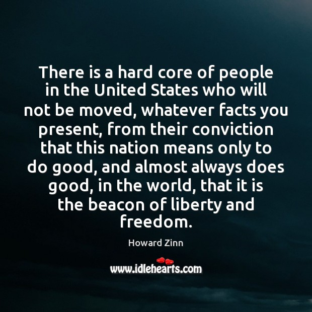There is a hard core of people in the United States who Howard Zinn Picture Quote