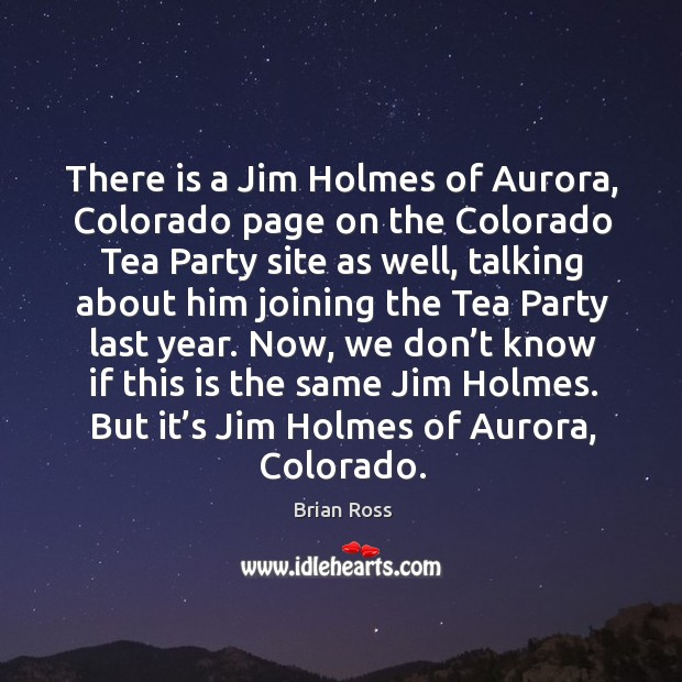 Image, There is a Jim Holmes of Aurora, Colorado page on the Colorado
