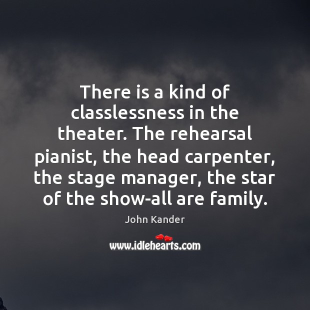 There is a kind of classlessness in the theater. The rehearsal pianist, Image