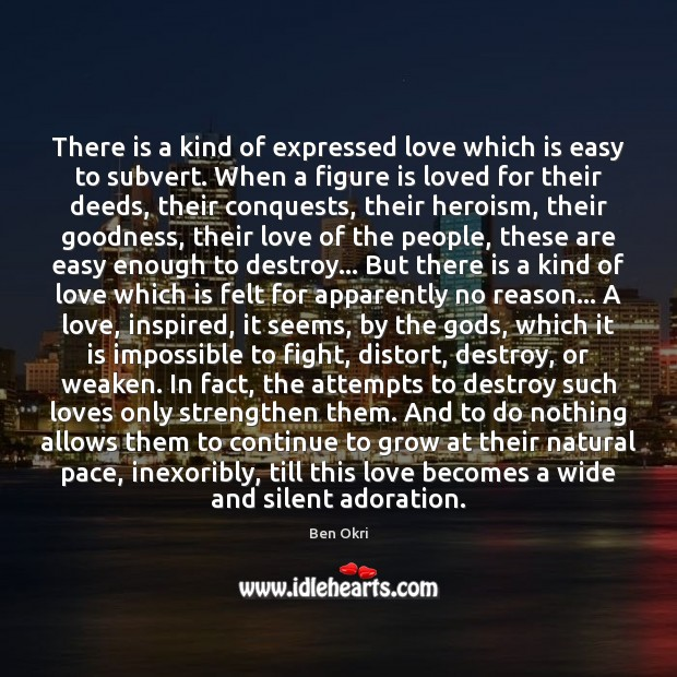 Image, There is a kind of expressed love which is easy to subvert.