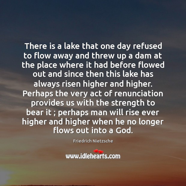 There is a lake that one day refused to flow away and Image