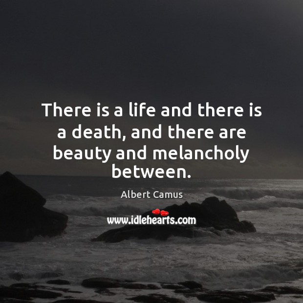 Image, There is a life and there is a death, and there are beauty and melancholy between.