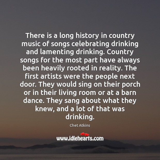 There is a long history in country music of songs celebrating drinking Image