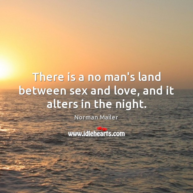 Image, There is a no man's land between sex and love, and it alters in the night.