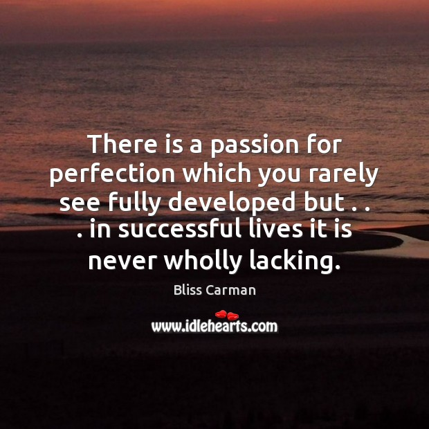 Image, There is a passion for perfection which you rarely see fully developed