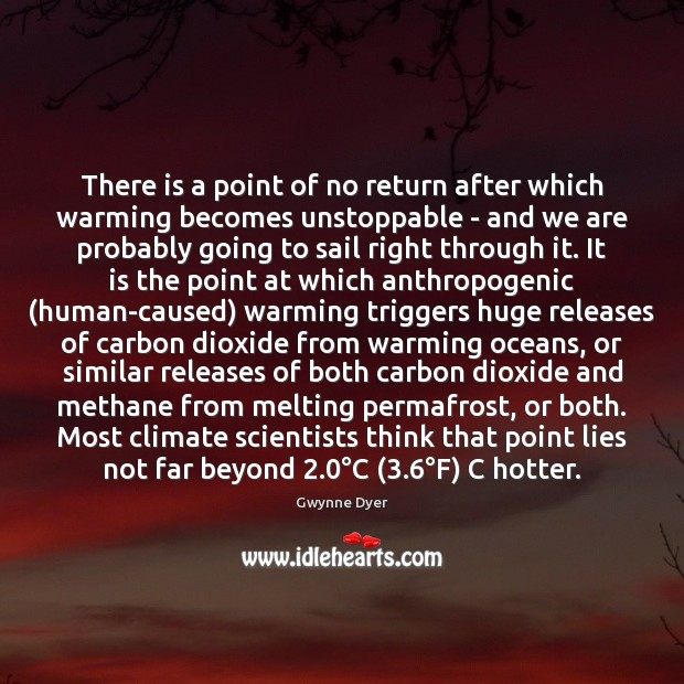 Image, There is a point of no return after which warming becomes unstoppable