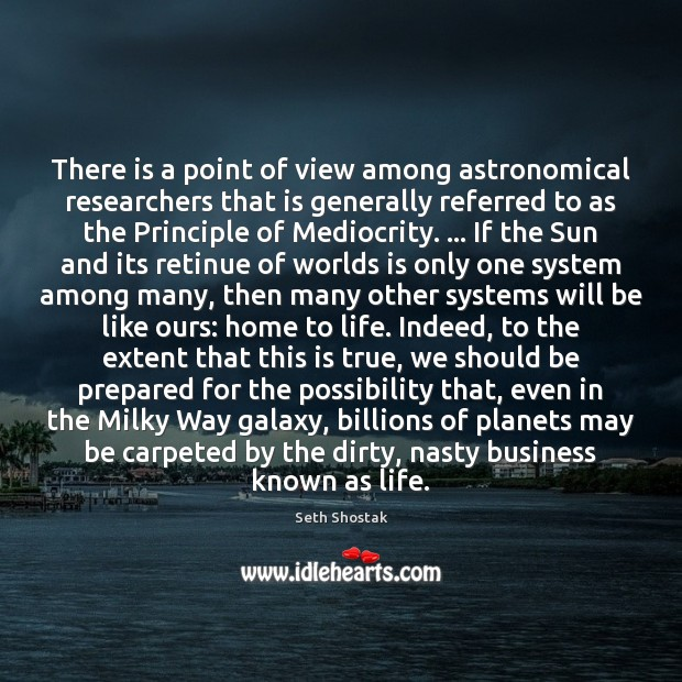 Image, There is a point of view among astronomical researchers that is generally