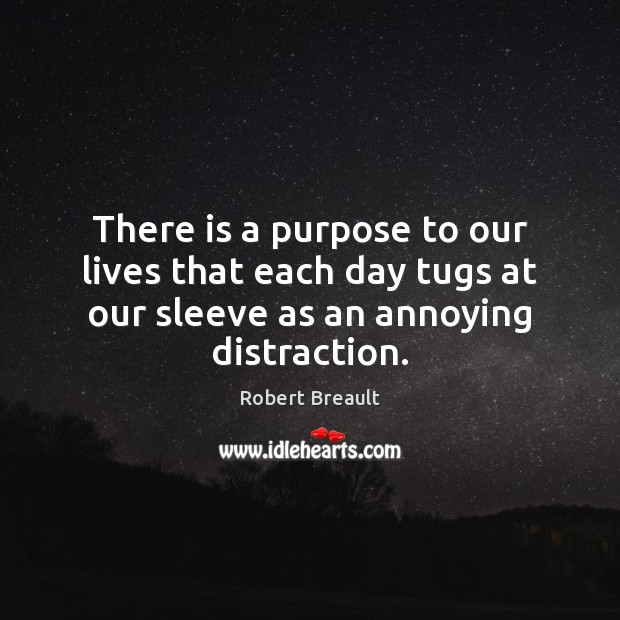 Image, There is a purpose to our lives that each day tugs at