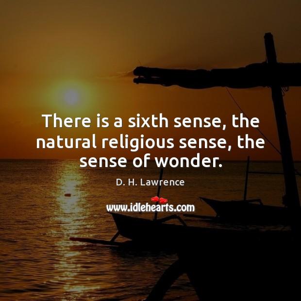 There is a sixth sense, the natural religious sense, the sense of wonder. Image