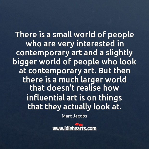 There is a small world of people who are very interested in Image