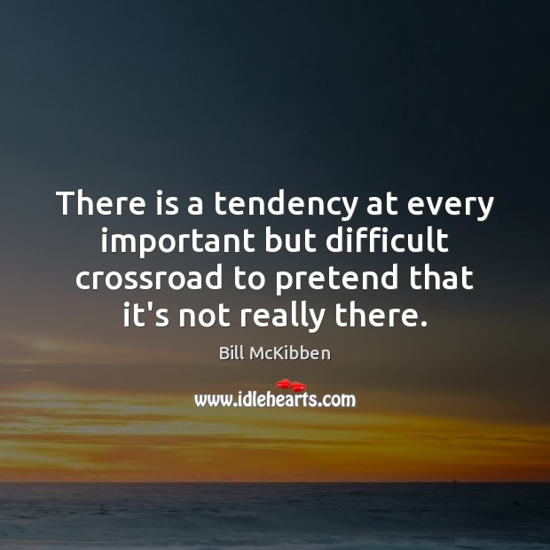 Image, There is a tendency at every important but difficult crossroad to pretend