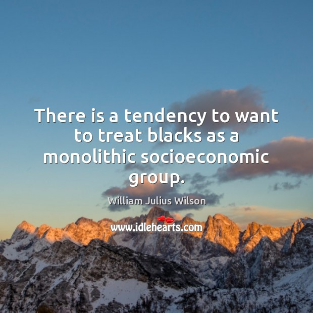 There is a tendency to want to treat blacks as a monolithic socioeconomic group. Image