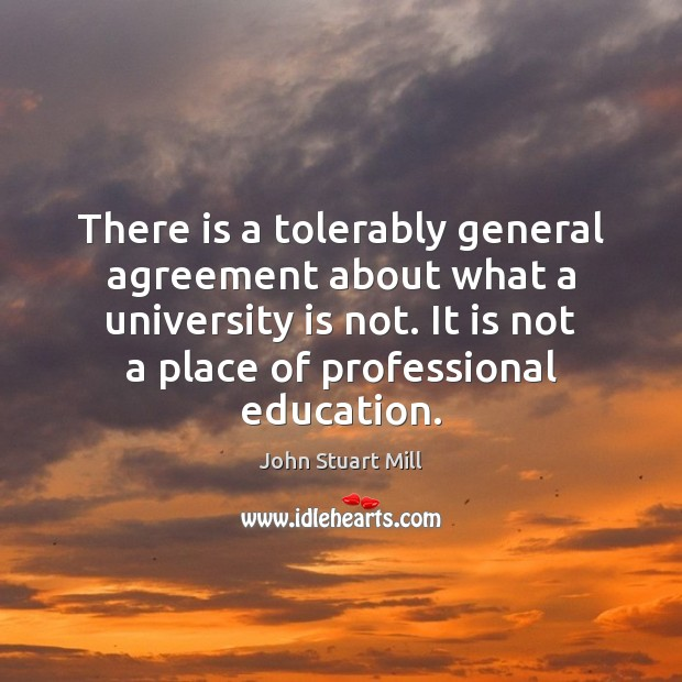 Image, There is a tolerably general agreement about what a university is not.