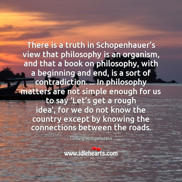 Image, There is a truth in Schopenhauer's view that philosophy is an