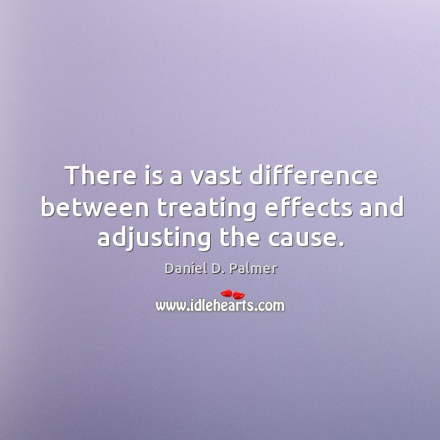 Image, There is a vast difference between treating effects and adjusting the cause.