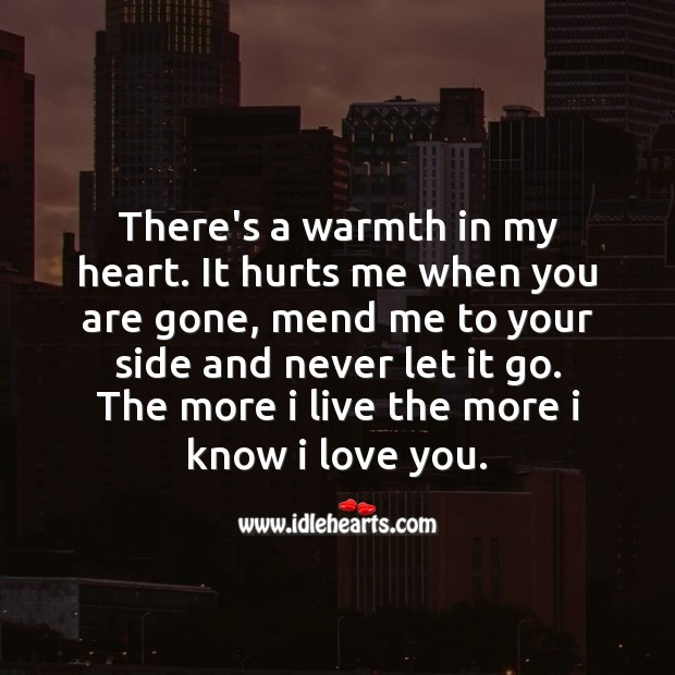 There is a warmth in my heart. Image