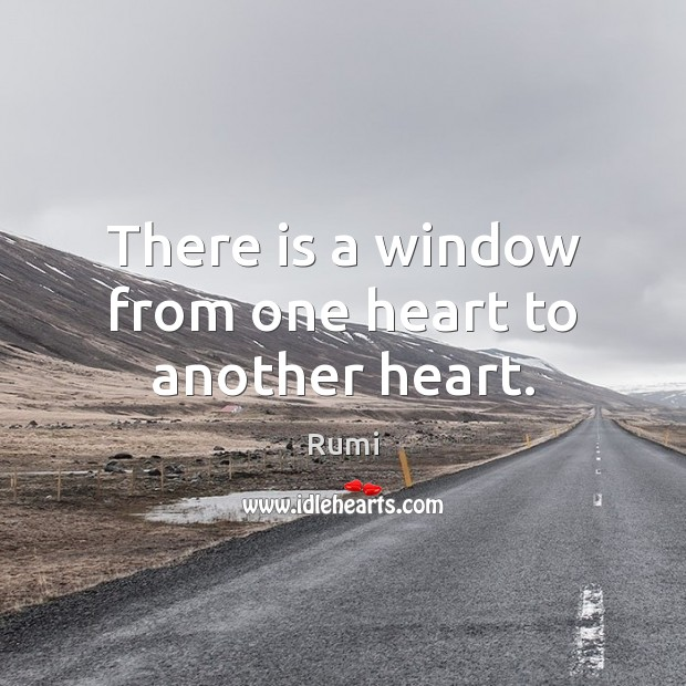 There is a window from one heart to another heart. Image