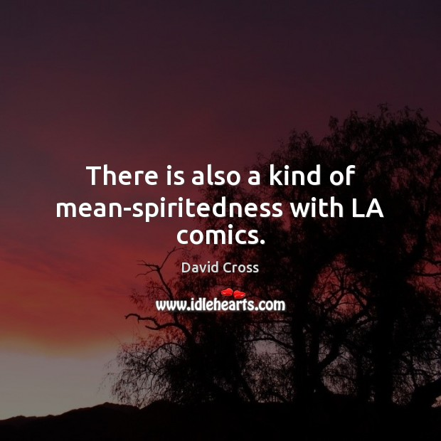 There is also a kind of mean-spiritedness with LA comics. Image
