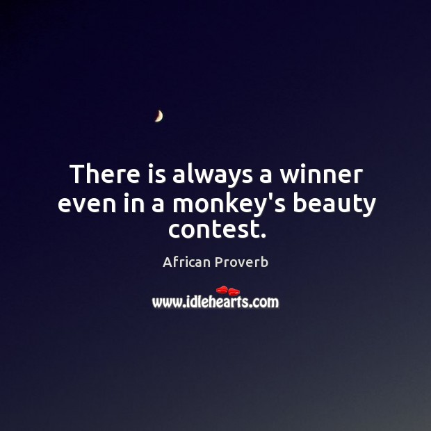 Image, There is always a winner even in a monkey's beauty contest.