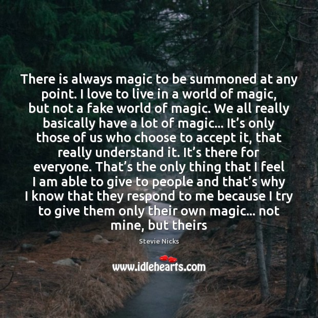 There is always magic to be summoned at any point. I love Image