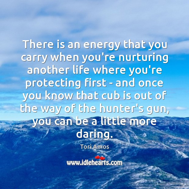 Image, There is an energy that you carry when you're nurturing another life