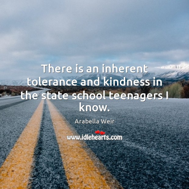 There is an inherent tolerance and kindness in the state school teenagers I know. Image