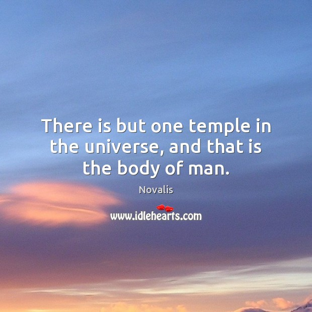 There is but one temple in the universe, and that is the body of man. Novalis Picture Quote