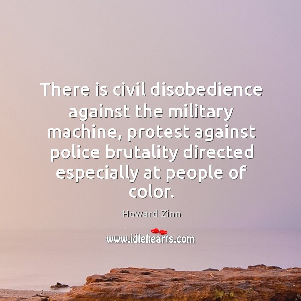 Image, There is civil disobedience against the military machine, protest against police brutality