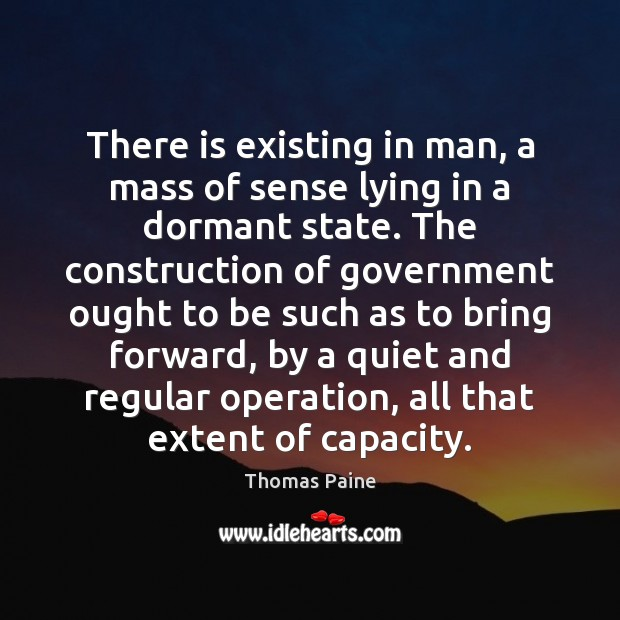 Image, There is existing in man, a mass of sense lying in a