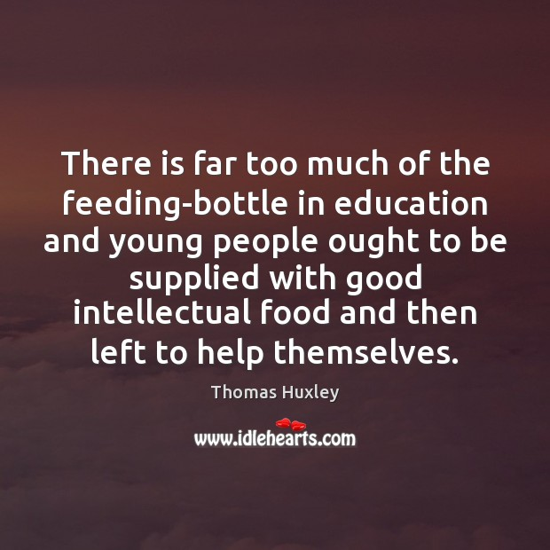 There is far too much of the feeding-bottle in education and young Image