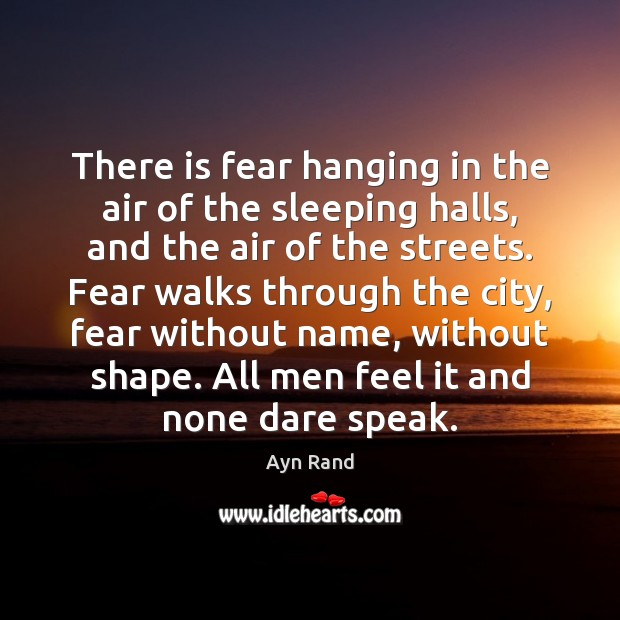 There is fear hanging in the air of the sleeping halls, and Image