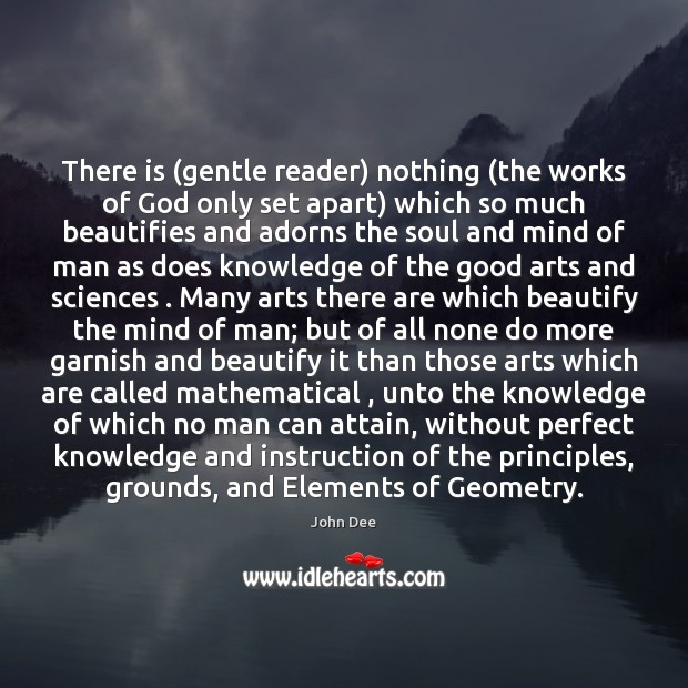 Image, There is (gentle reader) nothing (the works of God only set apart)