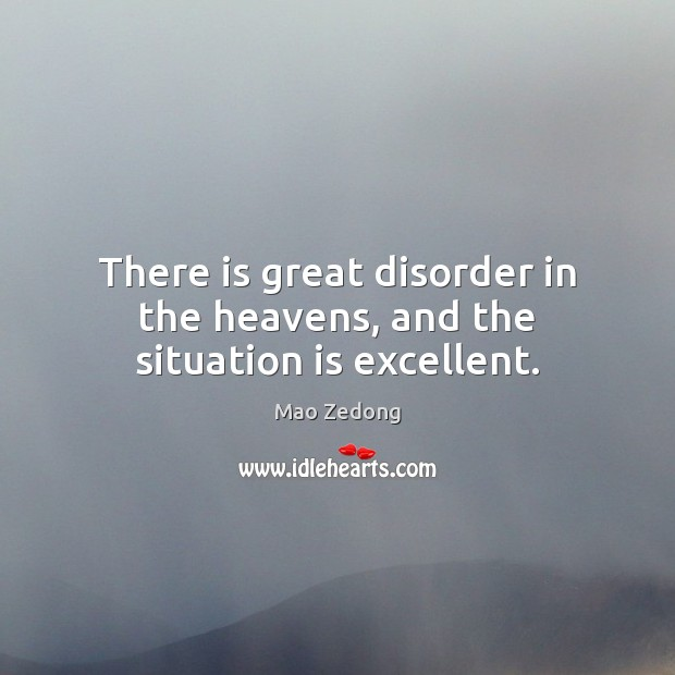 Image, There is great disorder in the heavens, and the situation is excellent.