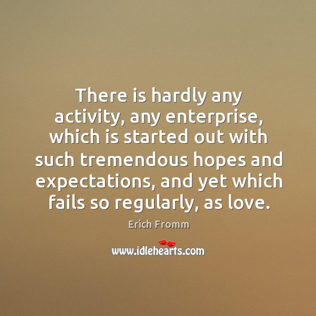 Image, There is hardly any activity, any enterprise, which is started out with such tremendous hopes and expectations