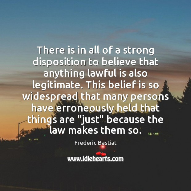 There is in all of a strong disposition to believe that anything Image