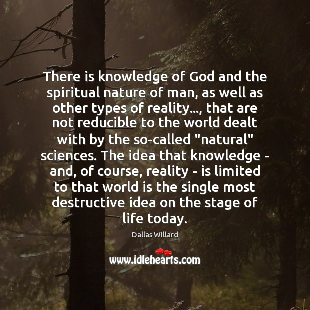 Image, There is knowledge of God and the spiritual nature of man, as
