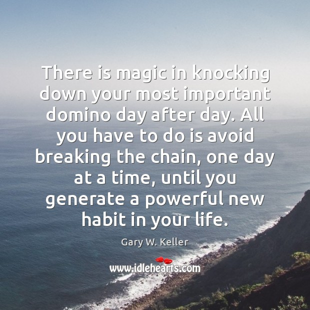 Image, There is magic in knocking down your most important domino day after