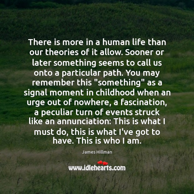 There is more in a human life than our theories of it Image