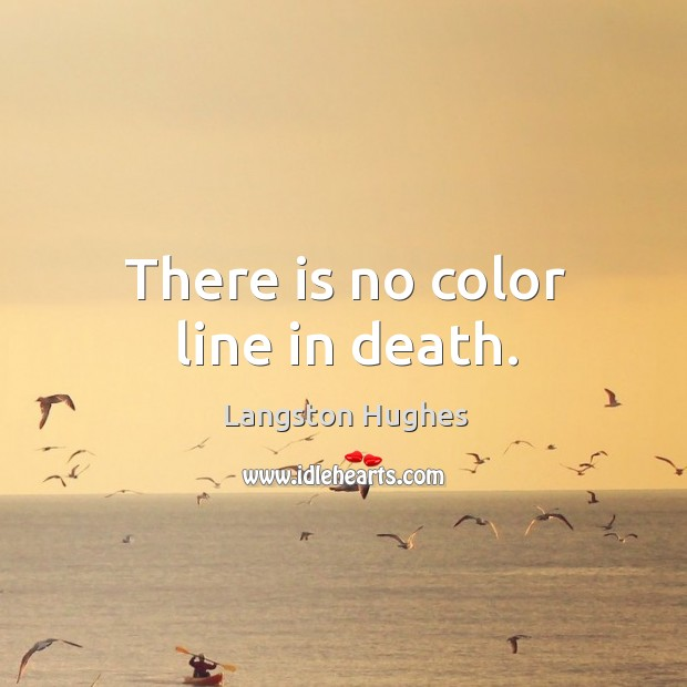 There is no color line in death. Image