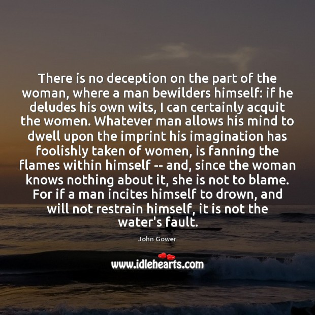 There is no deception on the part of the woman, where a Image