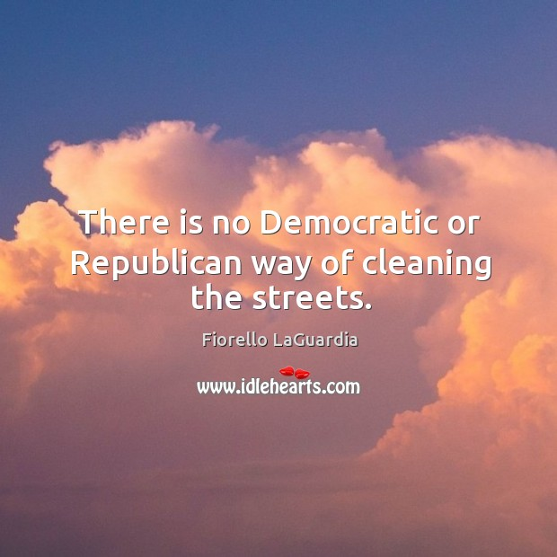 There is no democratic or republican way of cleaning the streets. Image