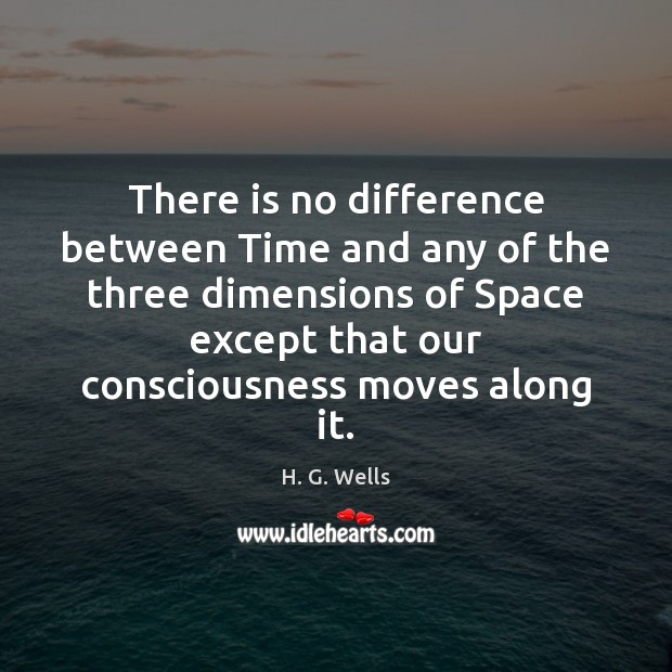 There is no difference between Time and any of the three dimensions Image
