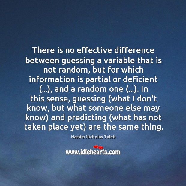 There is no effective difference between guessing a variable that is not Image